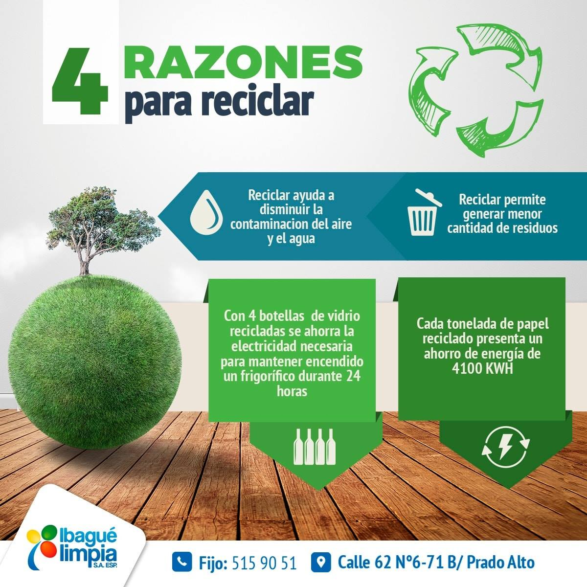 4 razones para reciclar