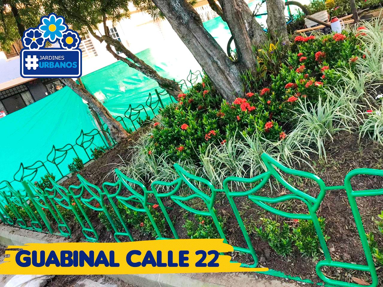 Jardines Urbanos de la calle 22 y 24  Av Guabinal