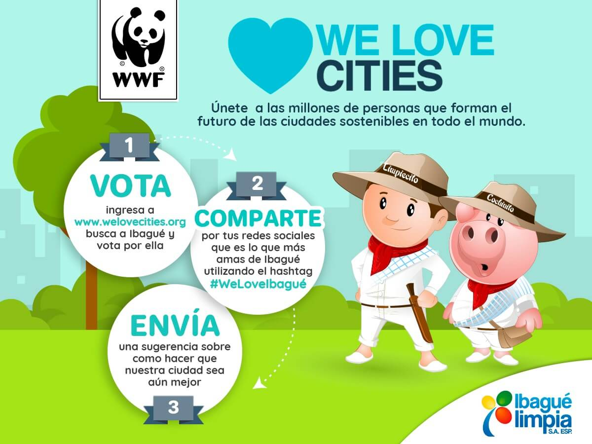 Ibagué Limpia con WE LOVE CITIES